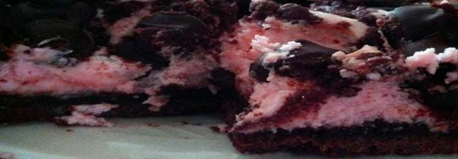 Rasberry Fudge Cheesecake Bars